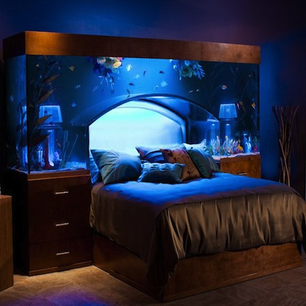 le lit aquarium parfait pour loger vos robots fish. Black Bedroom Furniture Sets. Home Design Ideas